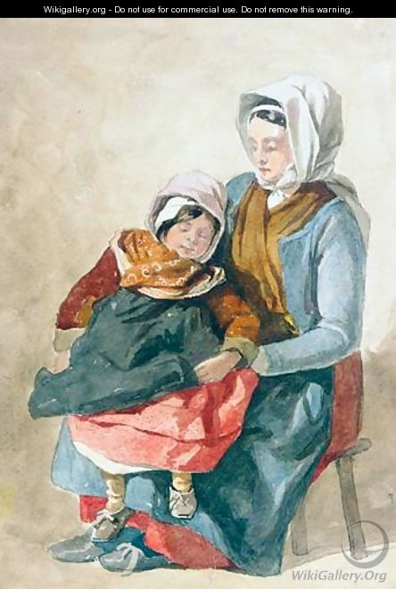 Mother and child - (after) Peter De Wint