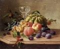 Still Life With Fruit And Pumpkin - Continental School
