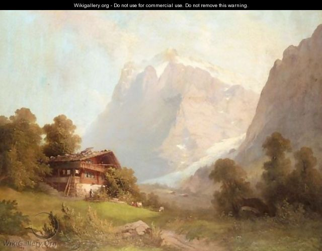 A Cabin In The Alps - Ferdinand Sommer