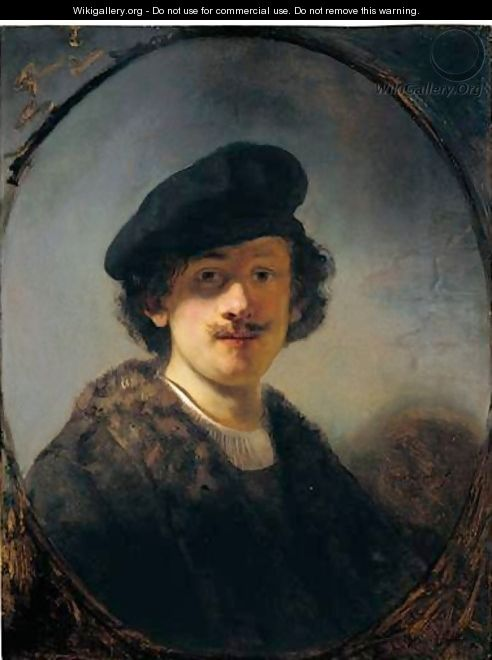 Self-Portrait With Shaded Eyes - Rembrandt Van Rijn