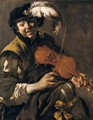 A Youth Playing The Violin - Hendrick Terbrugghen