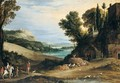 An Italianate Landscape With A Hawking Party Approaching A Villa, Other Huntsmen And A Hilltop Town Beyond - Paul Bril
