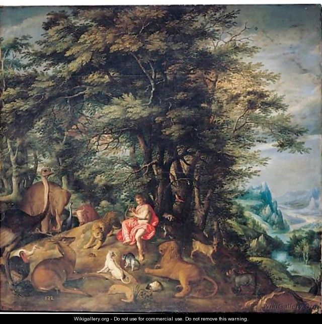 Orpheus Charming The Animals - Denys Van Alsloot
