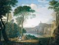 A Classical Landscape With The Nymph Egeria Mourning For Numa - (after) Hendrik Frans Van Lint (Studio Lo)