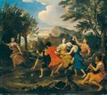 Arcadian Landscape With Figures Dancing - Louis de, the Younger Boulogne