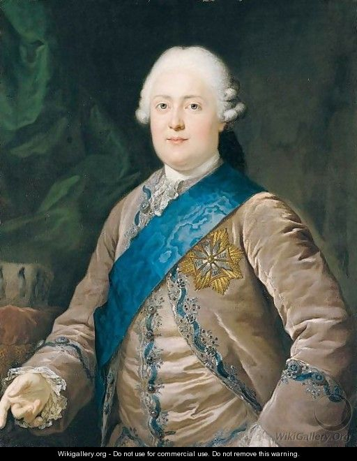 Portrait Of Friedrich August I (1750-1827), Elector And Later King Of Saxony, Half Length, Wearing A Mauve Jacket And Waistcoat And The Badge Of The Order Of The White Eagle - Anton Graff