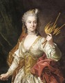 Portrait Of Mademoiselle Genevieve De Malboisiere (1746-66) As Melpomene, Muse Of Tragedy - Louis Michel van Loo