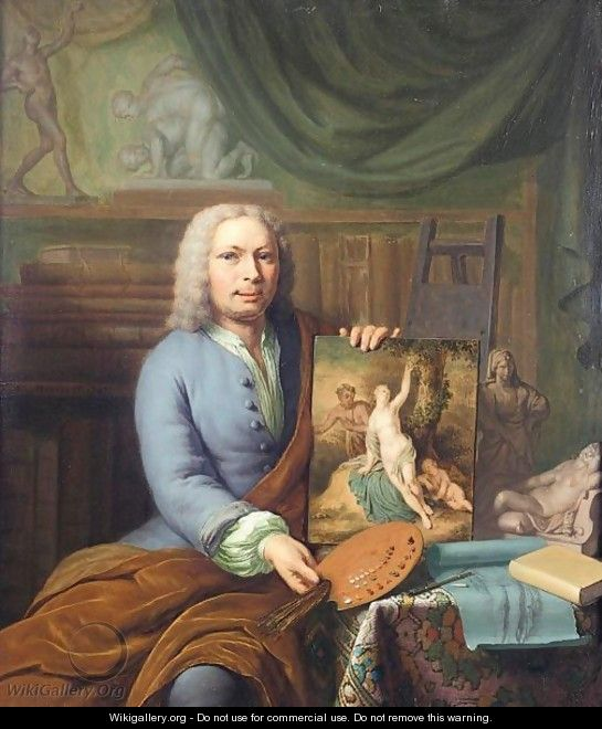 Self-Portrait Of The Artist In His Studio - Frans van Mieris