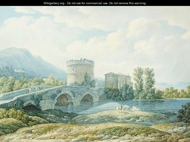 View Of The Ponte Lucano And The Tomb Of The Plautii - Filippo Giuntotardi