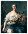 Portrait Of Madame De Pompadour In The Guise Of Diana - Jean-Marc Nattier
