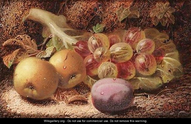Still Life Of Fruit - Oliver Clare