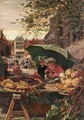 The Cherry Stall At A French Market - Lionel Percy Smythe