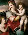 The Madonna And Child With The Infant Saint John The Baptist 2 - Michele di Ridolfo del Ghirlandaio (see Tosini)