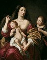 A Mother With An Infant In Her Arms And A Girl - Jan Van Bijlert