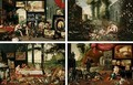 Allegories Of Sight, Touch, Taste And Smell - Jan, the Younger Brueghel