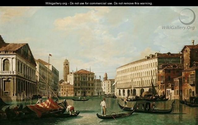 Venice, A View Of The Grand Canal Looking North From The Palazzo Rezzonico Towards The Palazzo Balbi - (after) (Giovanni Antonio Canal) Canaletto