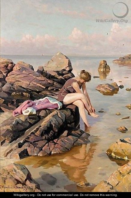 The Bather - Peder Monsted