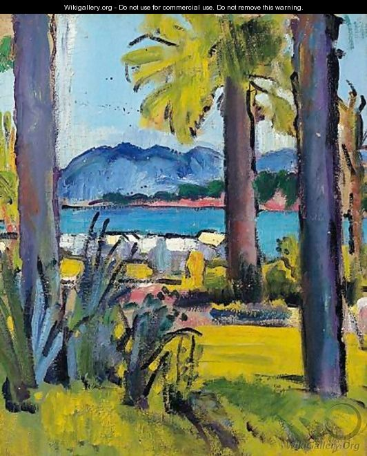 A View In The Cote De Azur, Circa 1920 - George Leslie Hunter