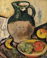 A Still Life Of Fruit And Green Jug - George Leslie Hunter