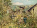 In A Ruined Cottage Garden - George Smith