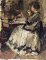 An Elegant Lady At A Writing Desk (Probably Tjieke Roelofs) - Albert Roelofs