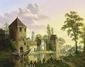 A View Of The Walled City Of Utrecht With The Dom-Tower In The Background - Jan Hendrik Verheijen