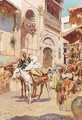 A Street Market, North Africa - Continental School