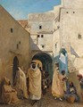 Figures On A Street In Algiers - Claude Pratt