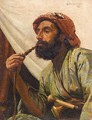 Portrait Of A Man Smoking A Hookah - William Savage Cooper