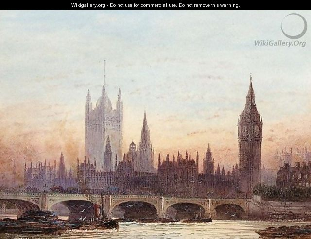 A View Of Westminster From The Thames - Frederick E.J. Goff
