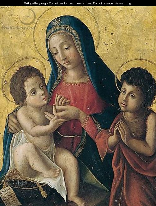 The Madonna And Child With The Infant Saint John The Baptist - North-Italian School