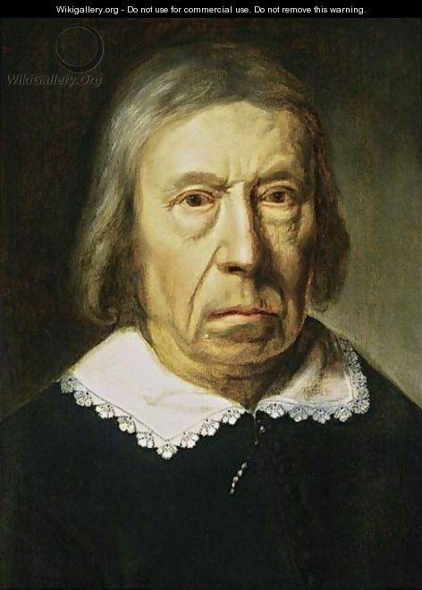 A Portrait Of An Elderly Man, Bust Length, Wearing A Black Costume With A White Collar - Dutch School