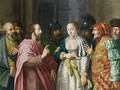 Christ And The Adulterous Woman - Dutch School