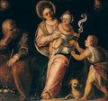 The Holy Family With The Infant Saint John The Baptist - (after) Paolo Veronese (Caliari)