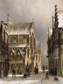 A View Of Leiden In Winter - Pieter Gerard Vertin