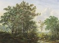 Cows In A Wooded Landscape - Pieter Gerardus Van Os