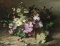 A Still Life With Flowers On A Forest Floor - Margaretha Roosenboom