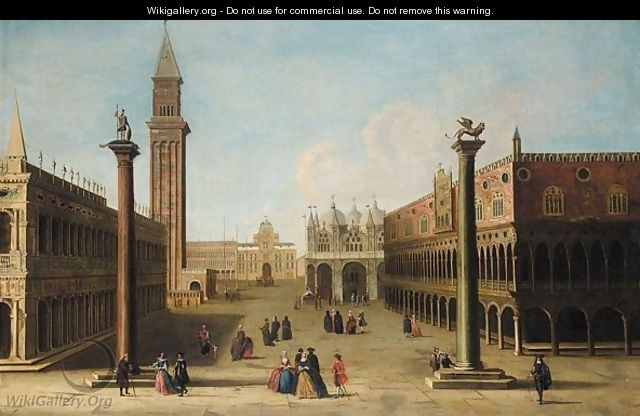 Venice, A View Of The Piazzetta And The Doge