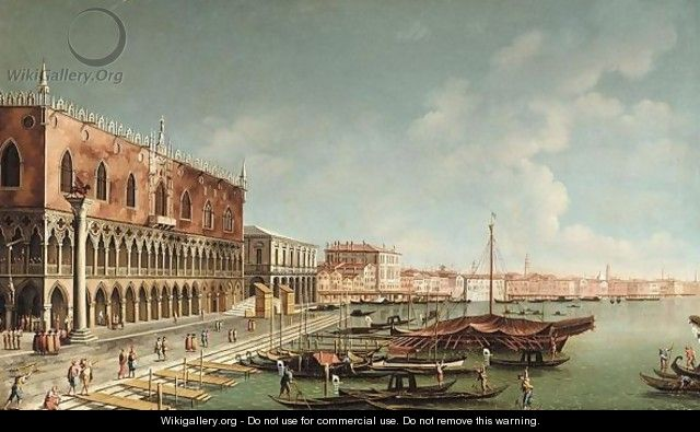Venice, A View Of The Riva Degli Schiavoni, Looking East - (after) (Giovanni Antonio Canal) Canaletto