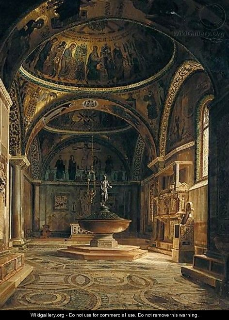 The Baptistery Of The Basilica Of San Marco In Venice - Italian School