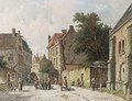 Villagers In The Streets Of A Dutch Town 2 - Adrianus Eversen