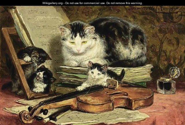 The Violin Lesson Henriette Ronner Knip Wikigallery