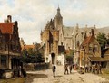 Street In Vianen, Holland - Willem Koekkoek