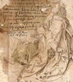 A Manuscript Fragment, With St. Jerome - German School