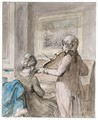 A Young Couple Making Music - Jurriaan Andriessen
