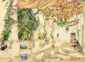 Working Under The Vines, Capri - Konstantin Alexandrovich Westchilov