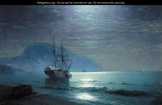 Moonlight In The Ayu Dag - Ivan Konstantinovich Aivazovsky