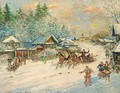 Troika Dashing Through The Snow - Konstantin Alexeievitch Korovin