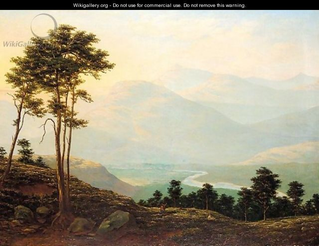 The River Dee, Lochnagar In The Distance - J.T. Walton
