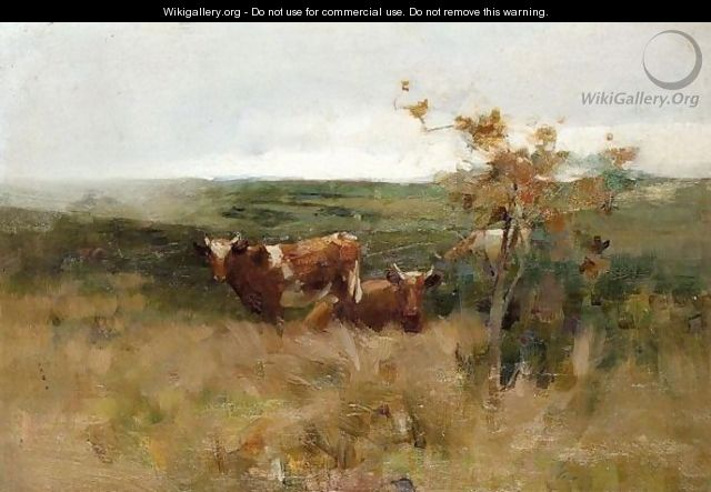 Cows In A Field - John Alfred Arnesby Brown
